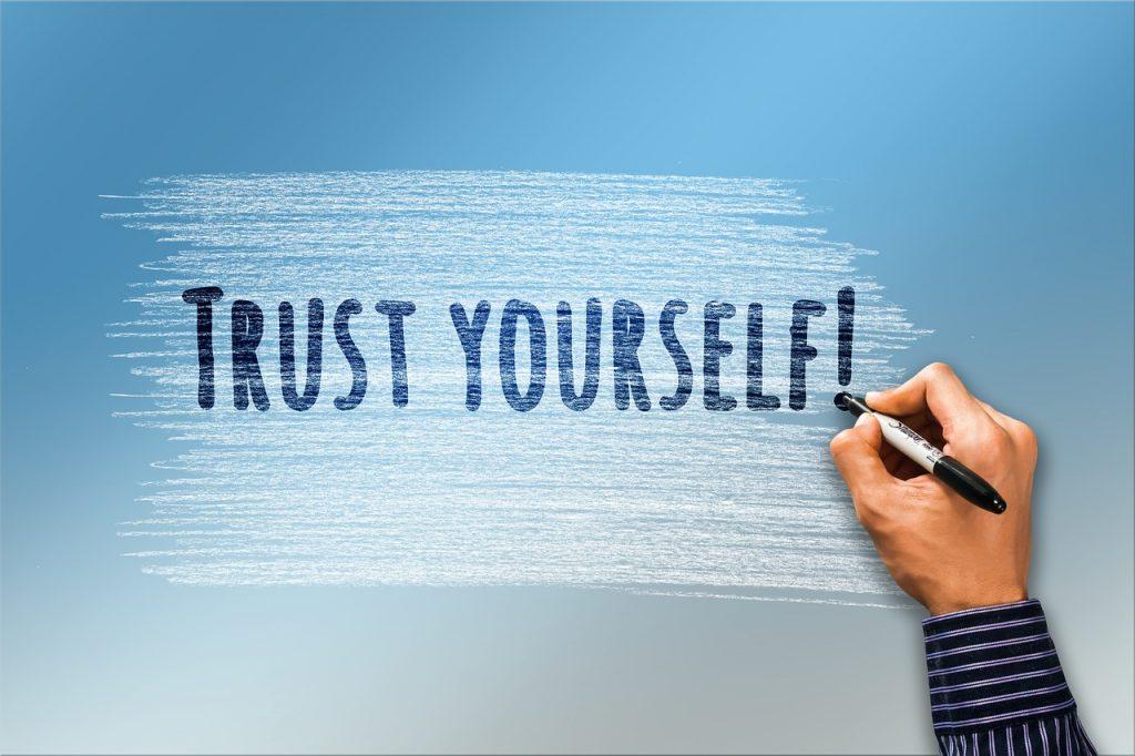 כיתוב להאמין בעצמך